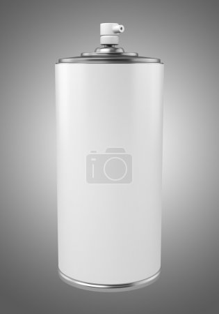 paint spray can isolated on gray background