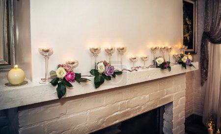 Photo for Candles in room - Royalty Free Image
