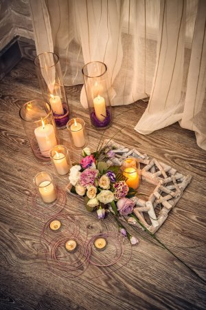Photo for Candles on floor - Royalty Free Image