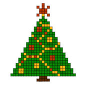 Christmas tree of squares