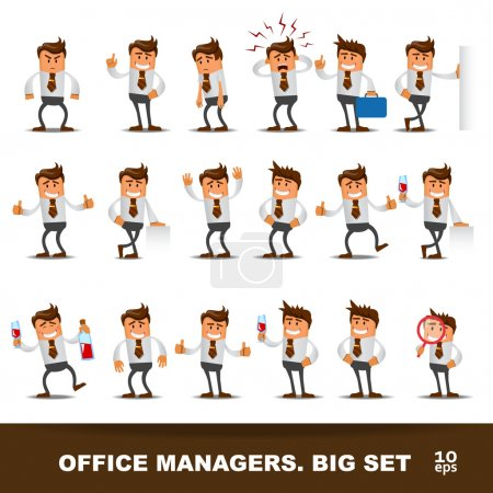 Set of Happy office man