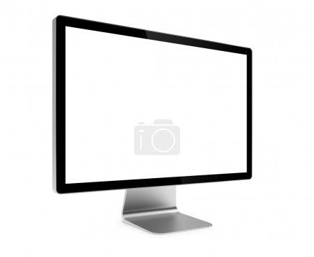 Photo pour Illustration 3D de l'écran de l'ordinateur isolé - image libre de droit