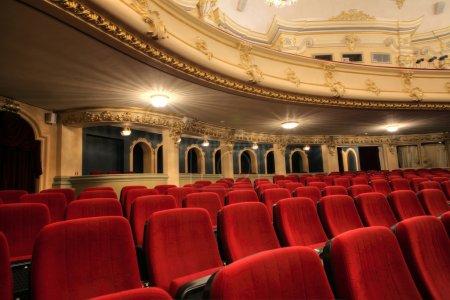 Photo pour Ancienne belle vue de théâtre-intérieur - image libre de droit