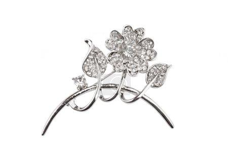 Beautiful silver flower brooch
