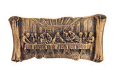 Last supper of Christ relief