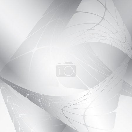 Silver background with abstract figures - vector