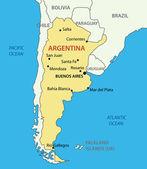 Argentine Republic (Argentina) - vector map