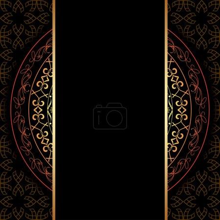 dark background with geometric pattern - vector