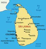Democratic Socialist Republic of Sri Lanka - vector map