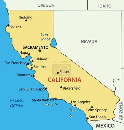 California - vector map