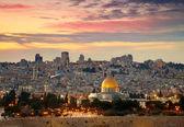 "Постер, картина, фотообои ""Вид на Старый город Иерусалима. Израиль"""