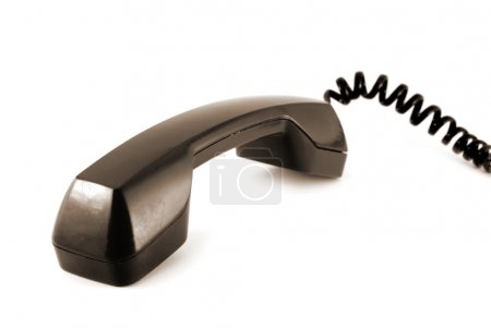 Photo for Old style telephone receiver isolated on a white background - Royalty Free Image