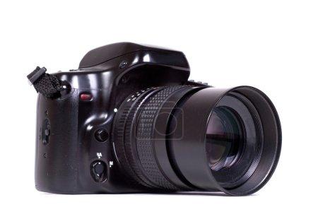 Photo pour Appareil photo reflex isolé sur blanc - image libre de droit