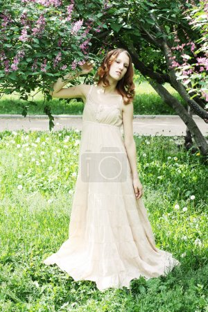 Woman in summer park