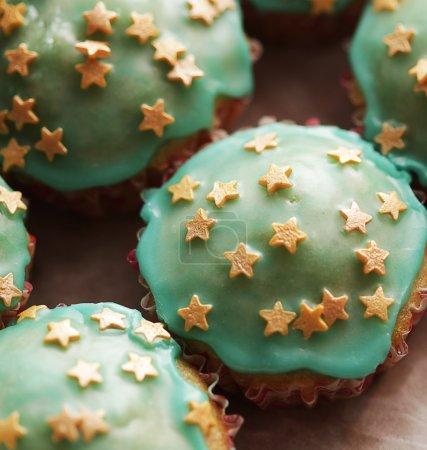 Photo pour Gâteaux de muffins savoureux - image libre de droit