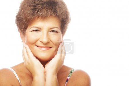 Close-up of a mature woman smiling