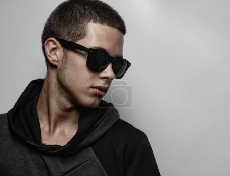 Photo for Stylish fashion young man portrait with sunglasses - Royalty Free Image
