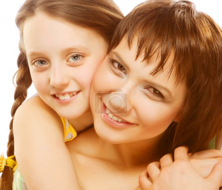 Photo for Happy family, young beautiful mother and her little daughter - Royalty Free Image