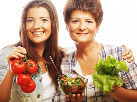 Mother and daughter  - health life.
