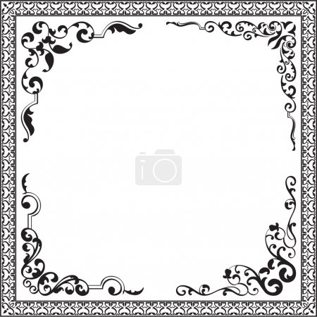 Illustration for Classical design elements isolated on white - Royalty Free Image