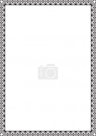 Illustration for Vintage border isolated on white - Royalty Free Image