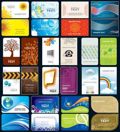 Variety business cards background