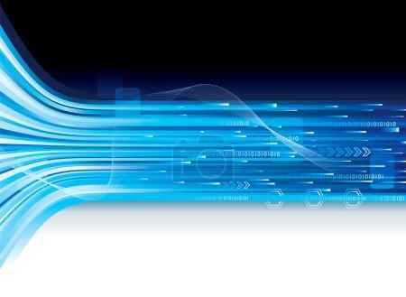Illustration pour Contexte abstrait de la connexion technologique . - image libre de droit