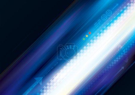 Illustration pour Rayures bleues fond de piste de mouvement rapide . - image libre de droit
