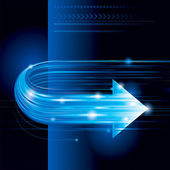 Abstract technology background with arrow shape