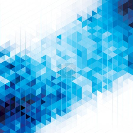 Illustration for Abstract modern geometric blue background. - Royalty Free Image