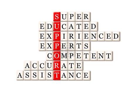 Photo pour Concept de soutien à la clientèle super instruits experts expirés, compétent, précis, assistance - image libre de droit