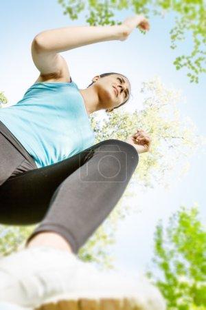 Fitness girl jogging