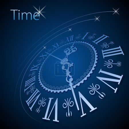 Illustration for Abstract clock background - conceptual vector - Royalty Free Image