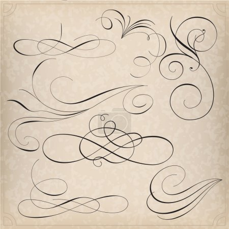 Illustration for Set of calligraphy elemets - Royalty Free Image