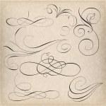 Set of calligraphy elemets...