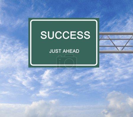 Photo pour Panneau de signalisation à succès - image libre de droit