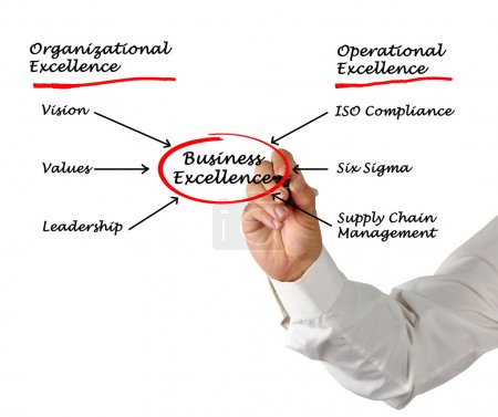 Diagram of business excellence