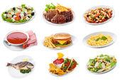 """Постер, картина, фотообои """"Набор с плиты различных пищевых продуктов"""""""