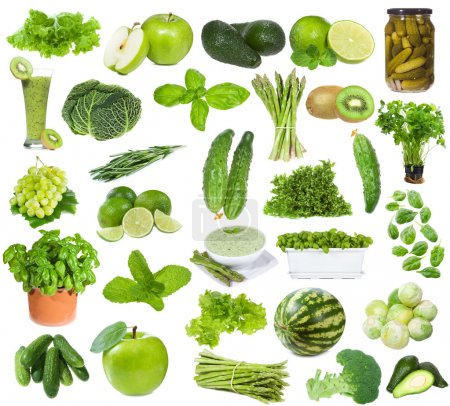 Set with green food