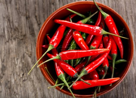 Photo for Red and green chili pepper - Royalty Free Image