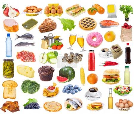 Photo pour Collecte alimentaire isolé sur fond blanc - image libre de droit