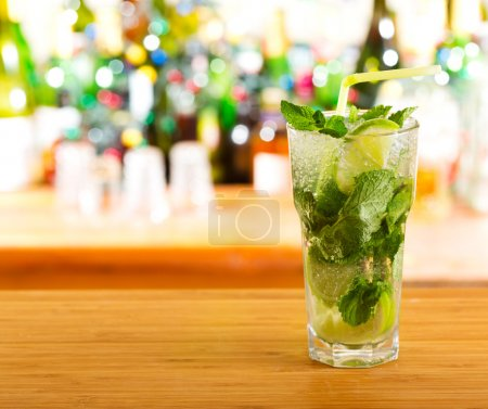 Photo for Mojito cocktail in a bar - Royalty Free Image
