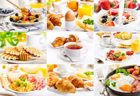 Photo for Collage with healthy breakfast - Royalty Free Image