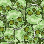 Camouflage Skull Background Vector Seamless Pattern