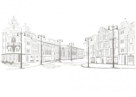 Illustration for Series of street views in the old city - Royalty Free Image