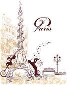 Eiffelova věž s hudební roubených, poznámky, hudebníci
