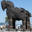 The copy of Troy wooden horse at Canakkale, Turkey...