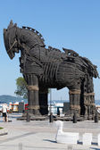 The copy of Troy wooden horse at Canakkale,