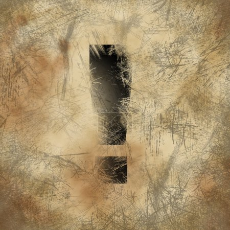 Foto de Signo de exclamación en el fondo rayado - Imagen libre de derechos