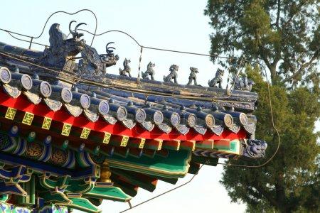 Roof in the Temple of Heaven in Beijing.